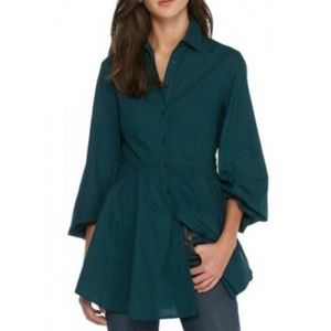 Free People All the Time Tunic Teal Size Medium